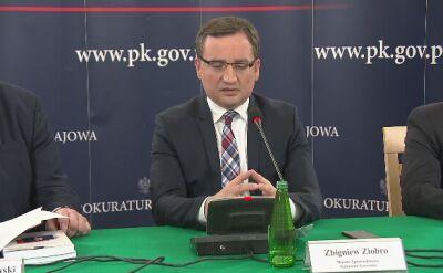 Zbigniew Ziobro ocenia pracę prokuratury