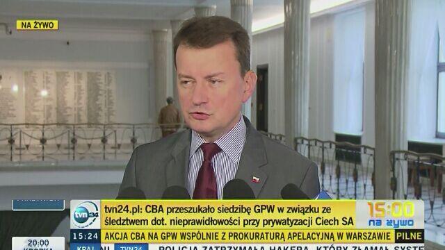 Błaszczak (PiS) o rozporządzeniu ministra zdrowia