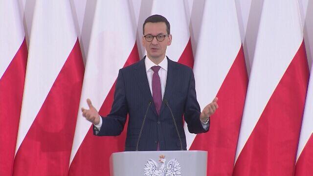 Przemówienie premiera Morawieckiego w Chełmie