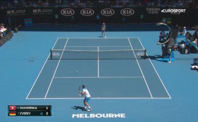 Skrót meczu Zverev - Wawrinka w 1/4 finału Australian Open