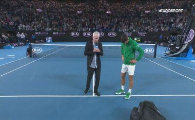 Rozmowa z Novakiem Djokoviciem po awansie do półfinału Australian Open