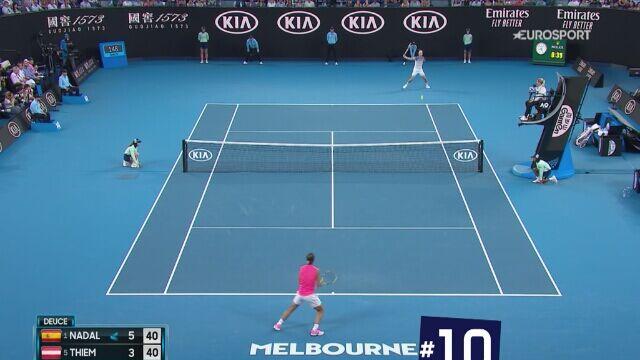 Najlepsze 10 zagrań w męskim singlu Australian Open