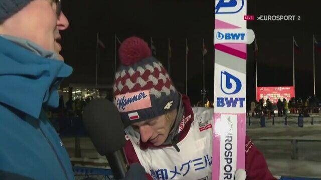Dawid Kubacki po konkursie w Sapporo