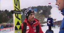 Kamil Stoch po konkursie w Garmisch-Partenkirchen