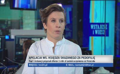 Apelacja ws. księdza skazanego za pedofilię