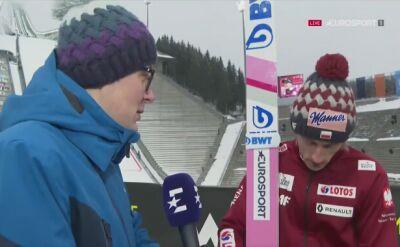 Dawid Kubacki po drużynówce w Oslo
