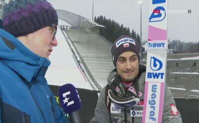 Maciej Kot po konkursie drużynowym w Oslo