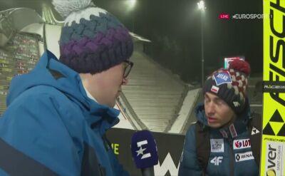 Kamil Stoch po kwalifikacjach w Oslo