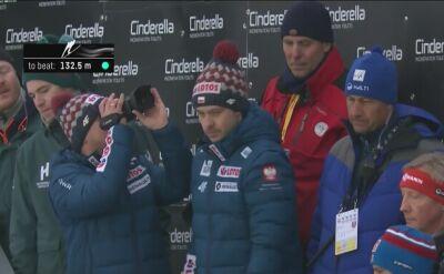 Dawid Kubacki w 2. serii konkursu drużynowego w Oslo
