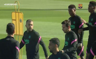 Barcelona trenowała przed meczem z Juventusem