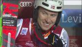 Henrik Kristoffersen nie krył radości po triumfie w Levi