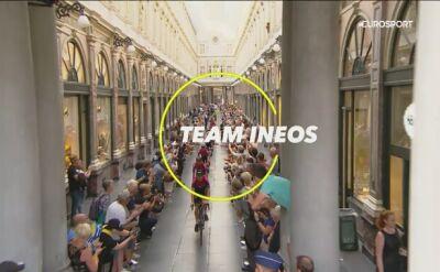 Kwiatkowski i jego zespół na prezentacji Tour de France