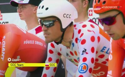 CCC Team na trasie 2. etapu Tour de France