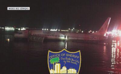 Boeing 737 wpadł do rzeki w Jacksonville w USA