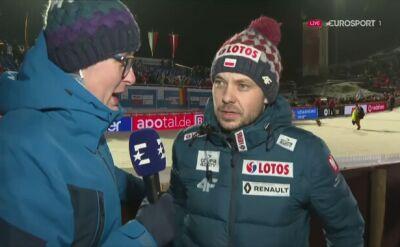 Michal Dolezal po sobotnim konkursie w Willingen