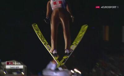 Skok z 1. serii Kamila Stocha w Oberstdorfie