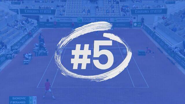 5 najlepszych zagrań Novaka Djokovicia podczas Roland Garros 2021