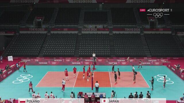 Tokio. Siatkówka: początek meczu Japonia - Polska