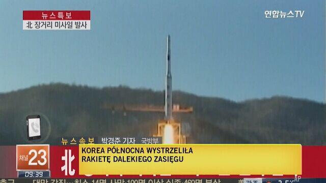 """Korea Północna wystrzeliła rakietę dalekiego zasięgu. """"To jawne naruszenie rezolucji ONZ"""""""