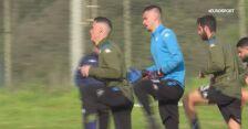 Zawodnicy Napoli trenują przed meczem z Barceloną w LM