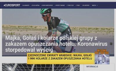 Piotr Wadecki o koronawirusie w kolumnie wyścigu
