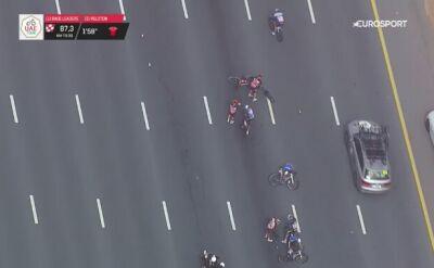 Upadek w środku peletonu na 4. etapie UAE Tour
