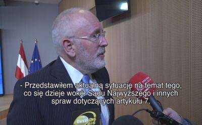 Timmermans: orzeczenie sądu musi być wdrożone