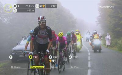 David Gaudu wypadł z trasy na 9. etapie Tour de France