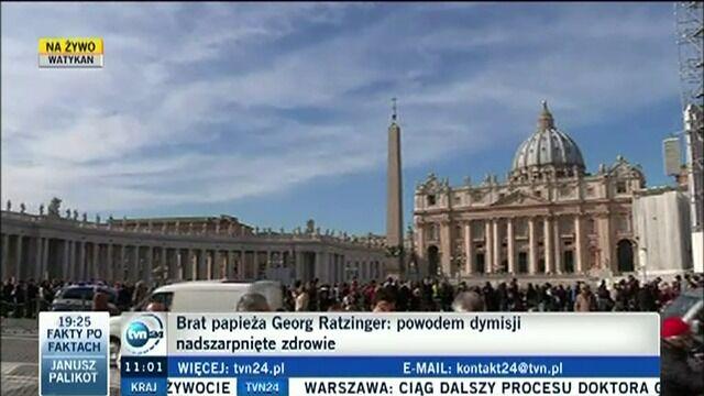 Informacja o operacji papieża zelektryzowała media