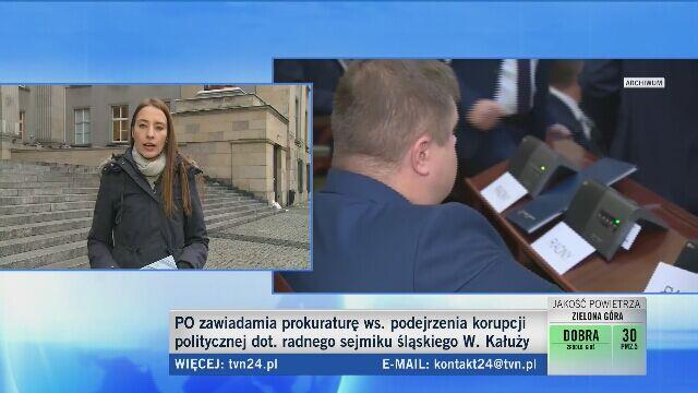 Kałuża przeszedł do PiS i został wicemarszałkiem. PO zawiadamia prokuraturę o korupcji