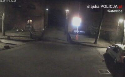 Napad na bank w Katowicach - nagranie z monitoringu