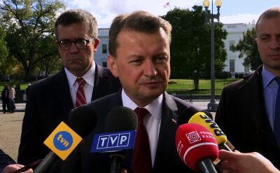 Błaszczak o stałej bazie sił USA w Polsce: jest poparcie dla tego projekty
