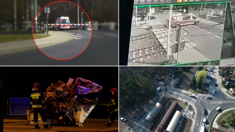 Zarzuty dla kierowcy karetki po tragicznym wypadku na przejeździe kolejowym