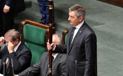 Pytania opozycji i milczenie marszałka. Będzie głosowanie w sprawie odwołania Kuchcińskiego