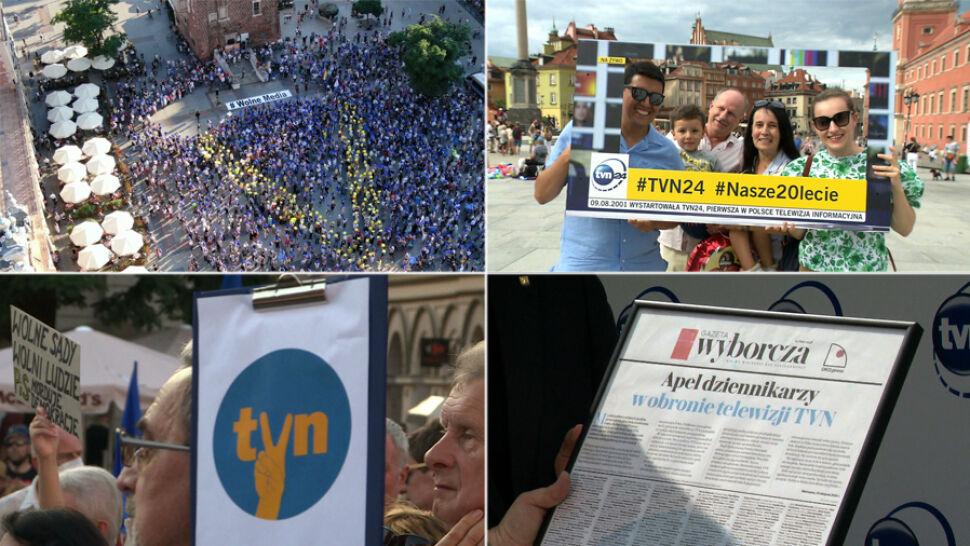 """""""Kropla drąży skałę, nie można odpuszczać"""". Dziękujemy za każde słowo wsparcia i walkę o TVN24"""
