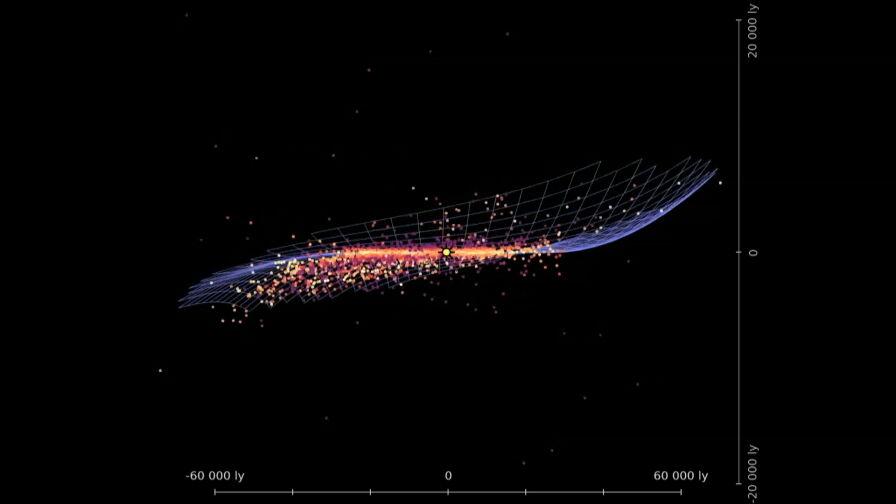Polacy stworzyli trójwymiarową mapę Drogi Mlecznej. Ma kształt chipsa