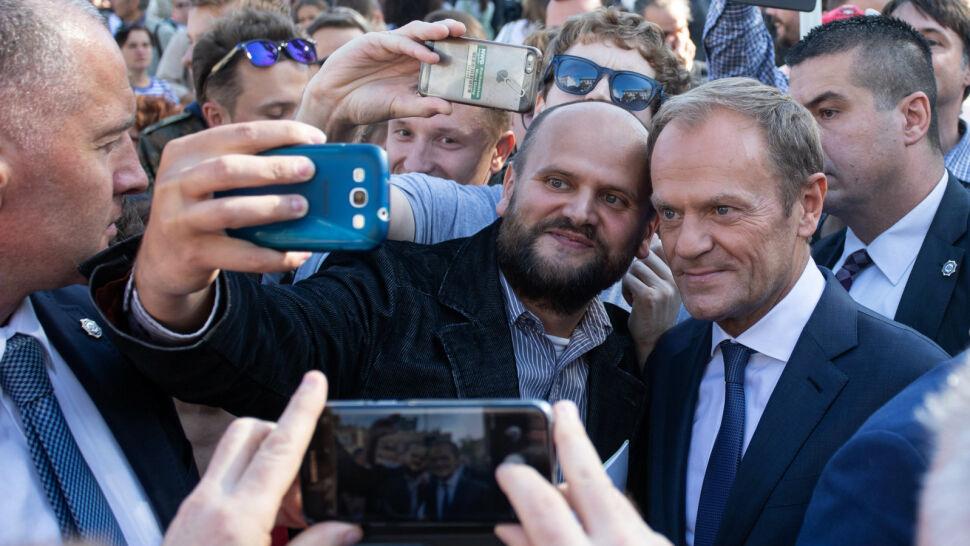 Apel o jedność i spotkanie ze zwolennikami. Donald Tusk w Krakowie