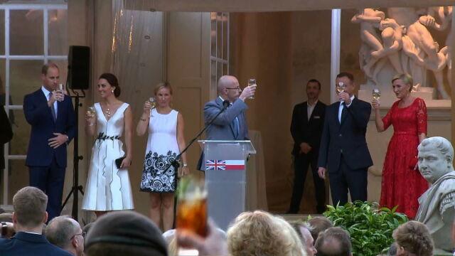 Przyjęcie z parą książęcą