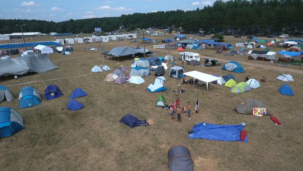 Namioty, jak okiem sięgnąć. Pierwsi goście zjeżdżają na Pol'and'Rock Festival