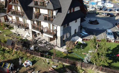 Wybuch gazu w pensjonacie w Białce Tatrzańskiej. Trzy osoby zostały ranne