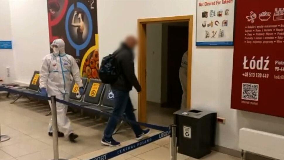Brytyjczyk sfałszował wynik testu na koronawirusa. Został zatrzymany na lotnisku w Łodzi