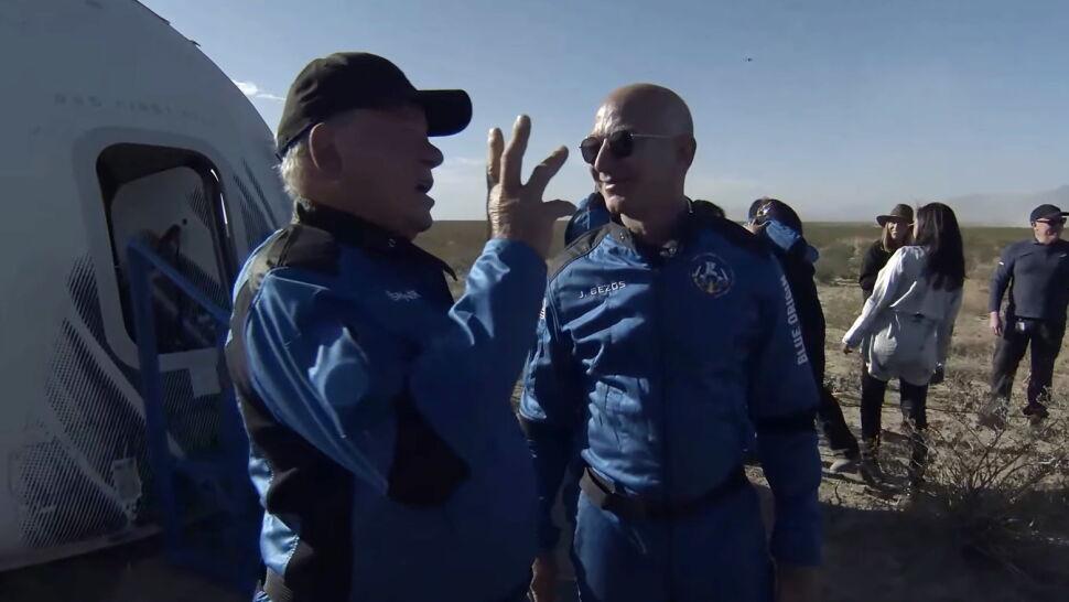William Shatner polecał w kosmos rakietą Jeffa Bezosa