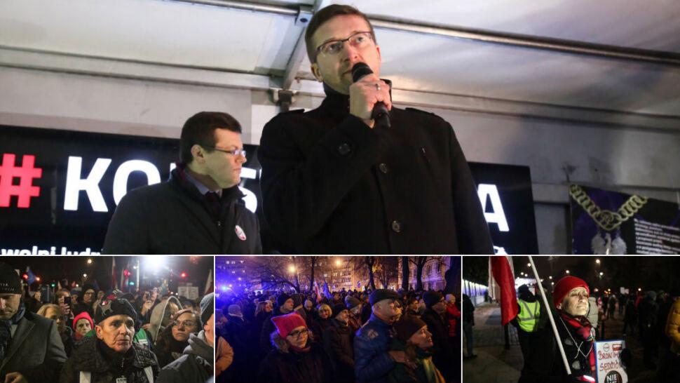 """Demonstracje solidarności z sędziami. """"My nie możemy ulegać naciskom"""""""