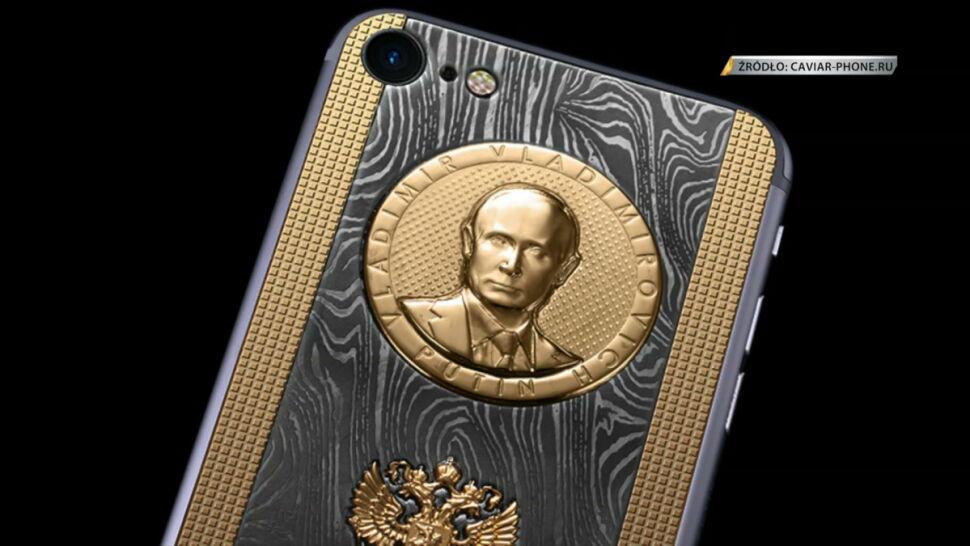 Wyjątkowe iPhone'y ze złotą podobizną Putina. Z okazji urodzin prezydenta Rosji