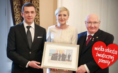 10.02.2017 | 200 tysięcy za zdjęcie pierwszej damy. Autor i zwycięzca aukcji spotkali się w Pałacu Prezydenckim