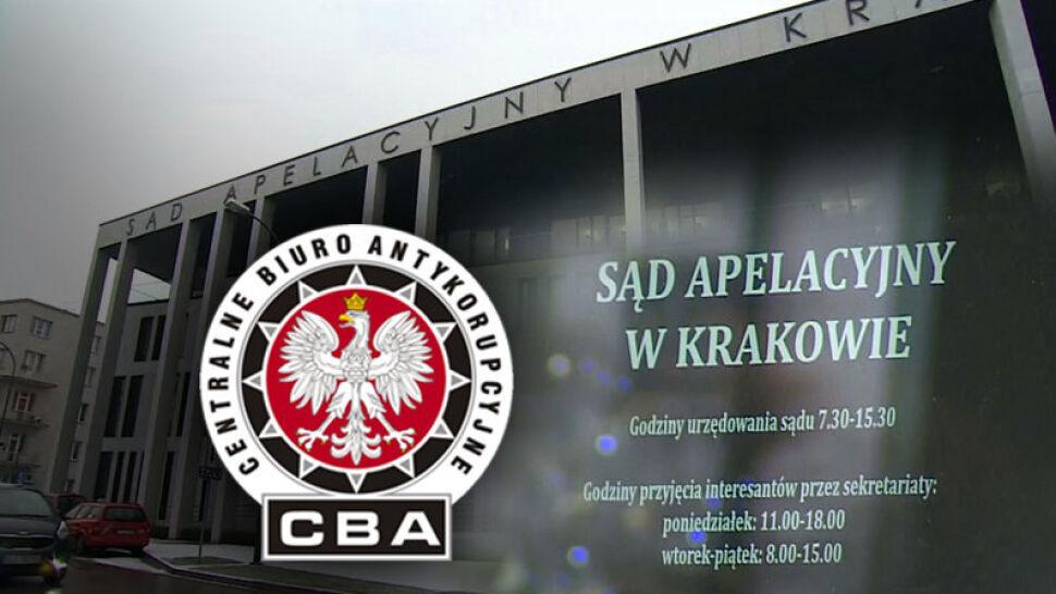 Dyrektor Sądu Apelacyjnego w Krakowie zatrzymany. Miał zawierać fikcyjne umowy