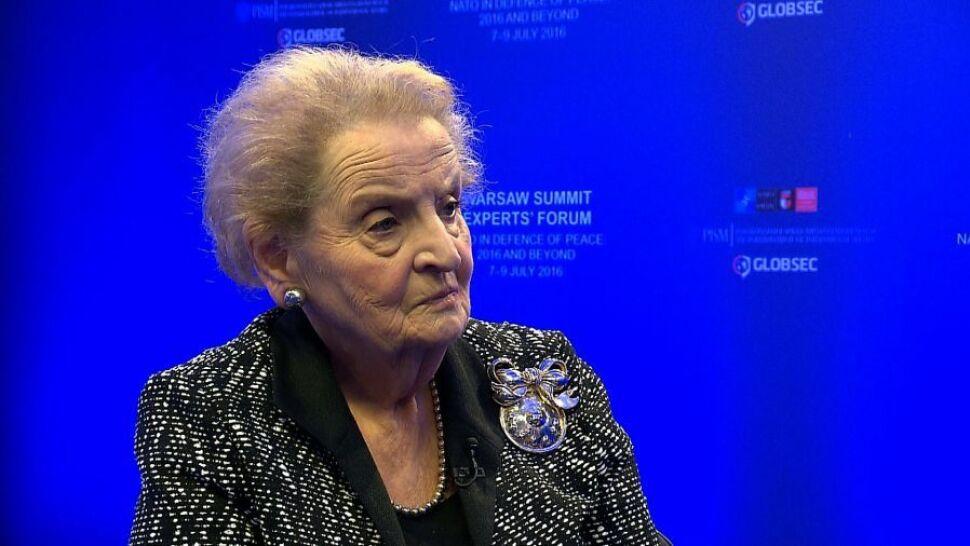 Albright: to nie jest stulecie, w którym kraje napadają na siebie. Tragedią jest to, że Putin żyje w innym stuleciu