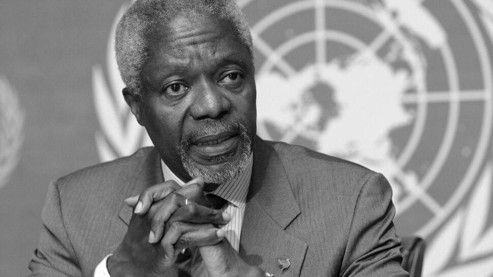 Kofi Annan nie żyje. Za walkę o prawa człowieka otrzymał Nobla