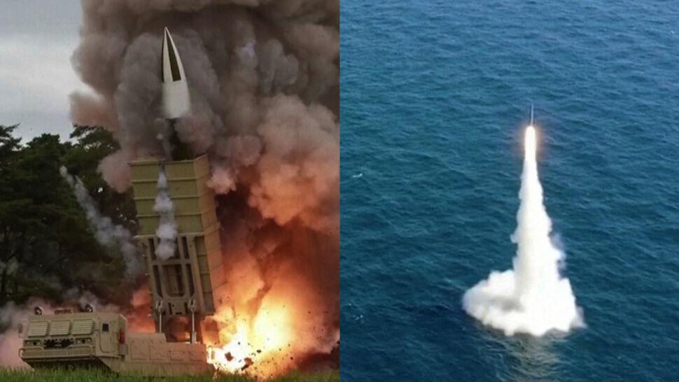 Korea Północna wystrzeliła pociski do morza, a Korea Południowa - z morza
