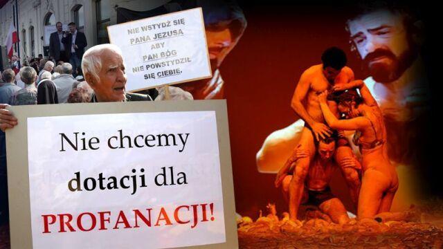 "18.06.2014   Kogo obraża myśl o teatrze? Burza o ""Golgota Picnic"""